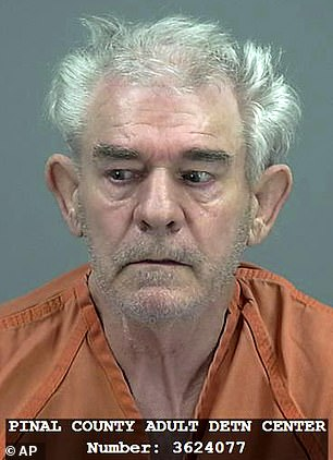 Man, 70, who was arrested with the body of his dead wife in his car was caught after a stunned worker at a Carl's Jr drive-thru in Arizona spotted him wearing only his underpants with the naked corpse upside down in the passenger seat