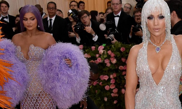 Kylie Jenner is caught checking out Jennifer Lopez's famous bottom at the Met Gala.