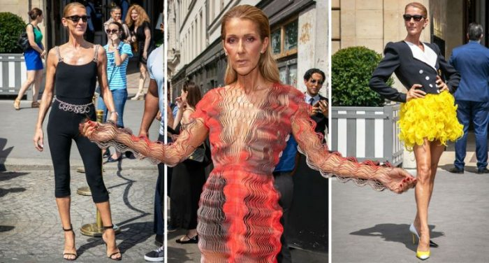 Celine Dion wears a variety of weird and wonderful outfits at Paris haute couture week.