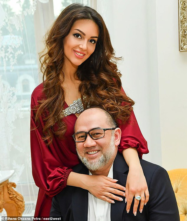 Russian beauty queen challenges the ex-King of Malaysia to take a paternity test after he DISOWNED their 'son' and divorced her six months after relinquishing his throne to marry her