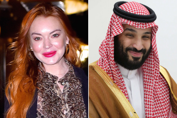 Lindsay Lohan is 'getting close' to Saudi Crown Prince Mohammad bin Salman, who has 'given her a credit card and flown her around on his private jet'