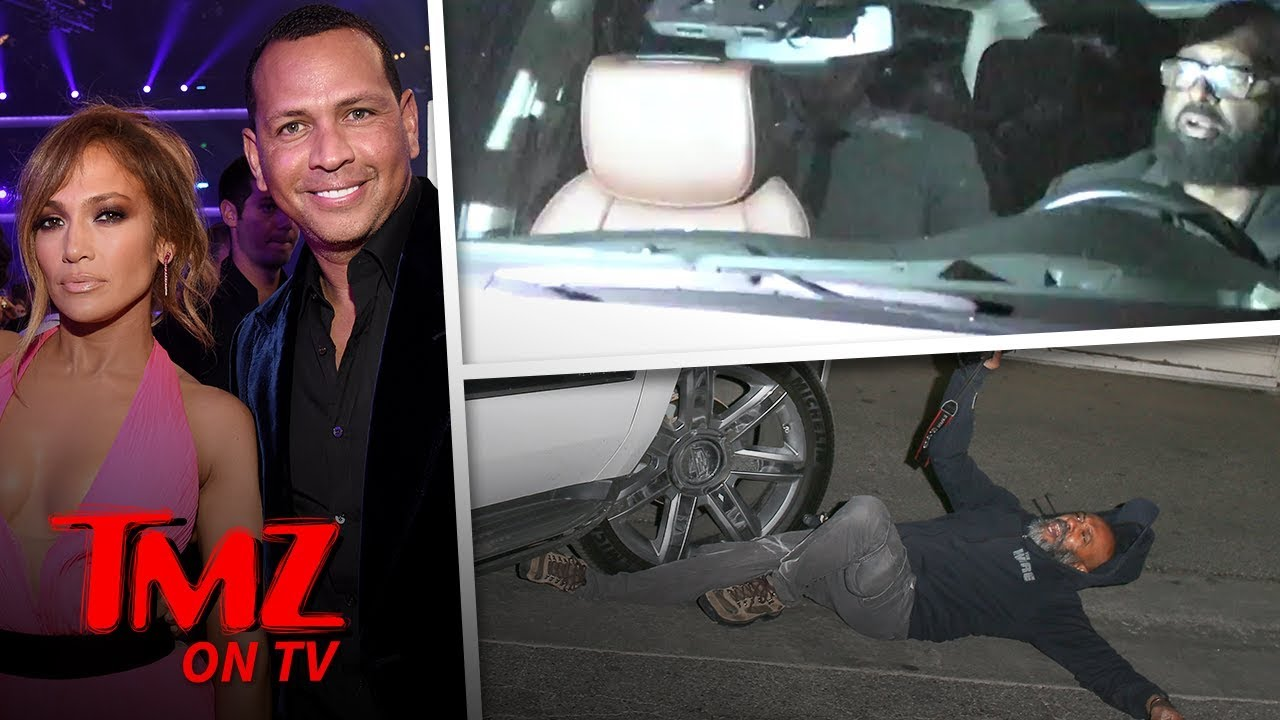 A-Rod and J Lo's Driver Hits Paparazzi, He Files Police Report
