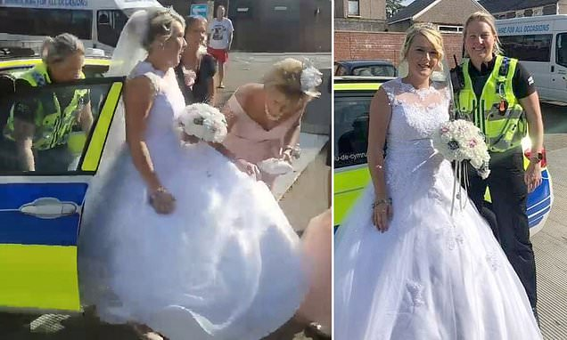 Bride arrived to wedding in police car