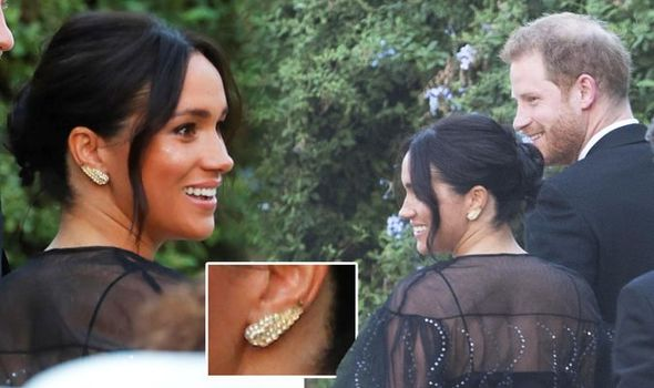 Meghan Markle's wedding outfit secret: Duchess wore £5 earrings to Misha Nonoo's nuptials after borrowing them from a friend who bought them on vintage stall in Portobello Market