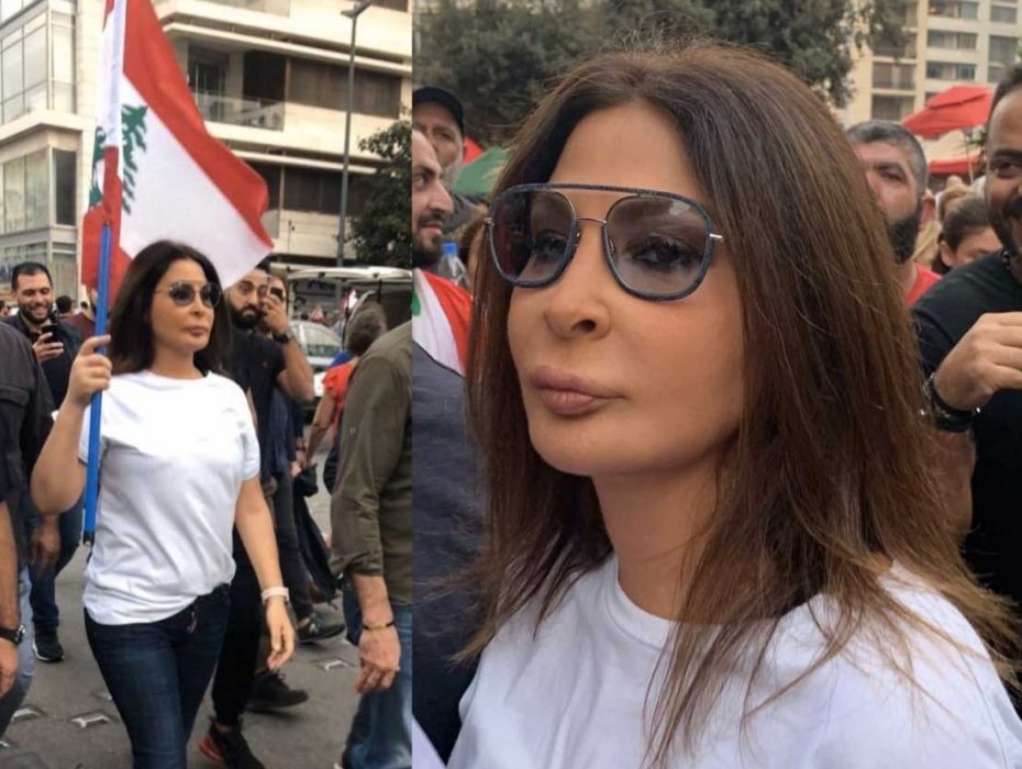 Elissa among the protesters