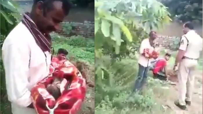 Baby girl saved from being buried alive by her family in India