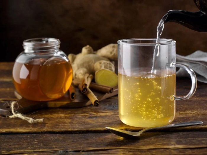 honey with hot water