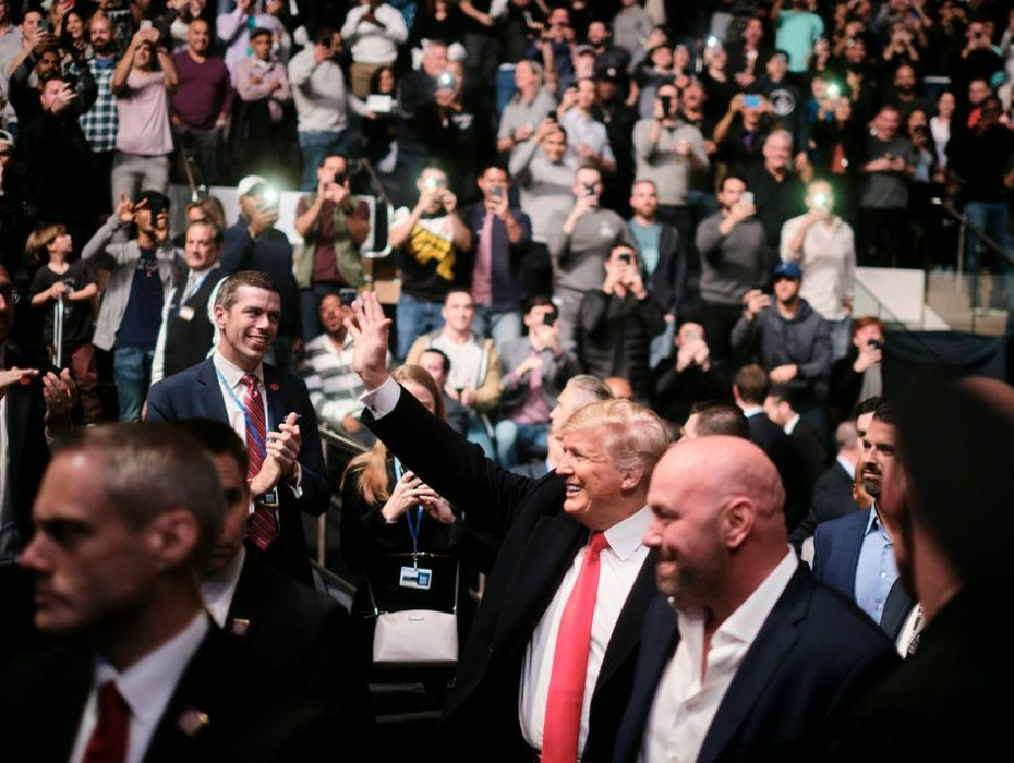 Trump Takes In a Different Kind of Fight: U.F.C. in New York
