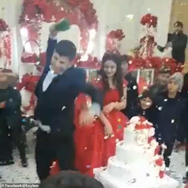 World's grumpiest groom smashes champagne bottle on the floor
