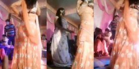 Dancer shot in the face at Indian wedding