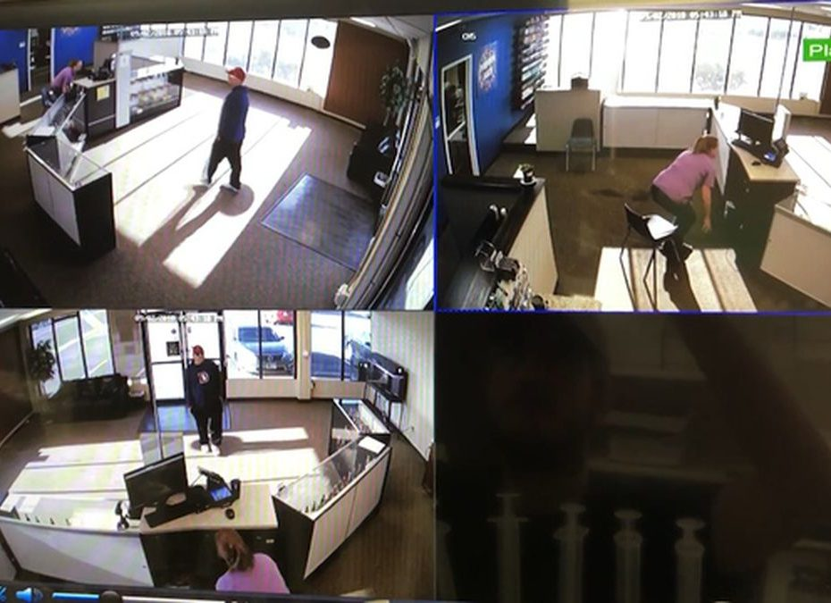 Bungling robbers botch attempted theft of a TV from a store