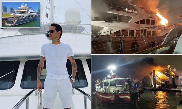 JLo's ex-husband Marc Anthony's $7million yacht bursts into flames