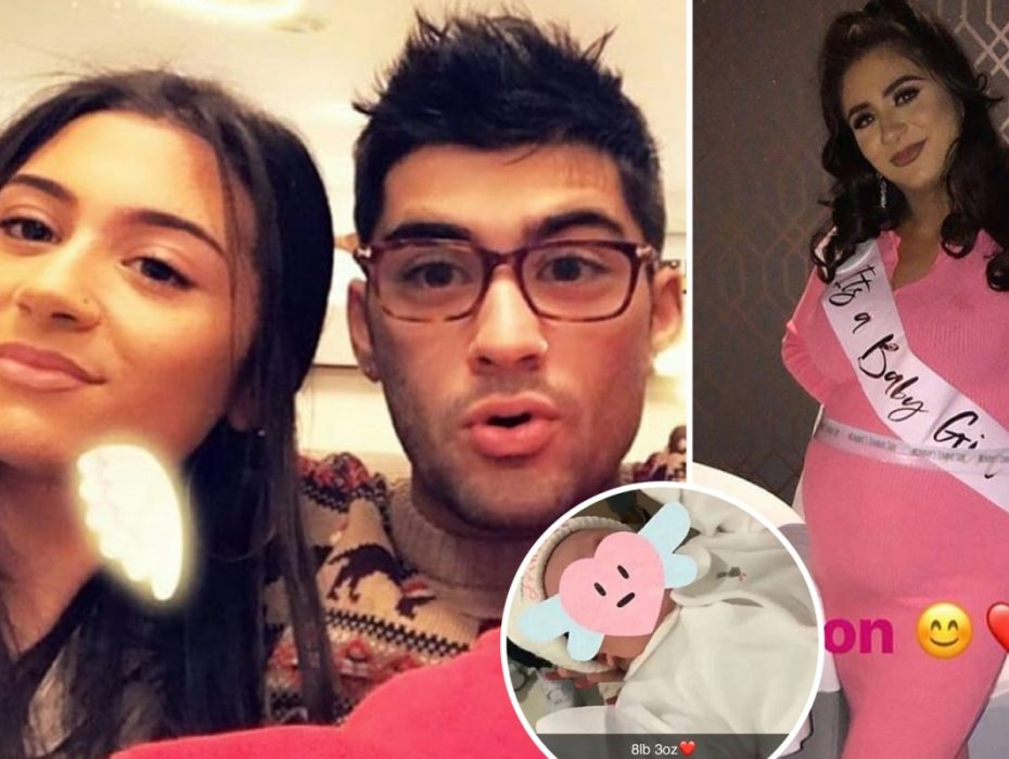 Zayn Malik's brother-in-law, 18, cradles the singer's newborn niece in sweet snap... just hours after the 1D star's sister Safaa, 17, gave birth