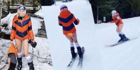Chelsea Handler skis without pants while smoking weed to mark birthday